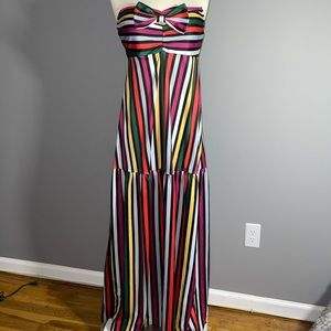 New without tags multi color striped maxi dress!